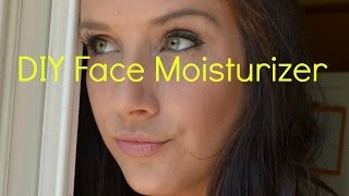DIY face moisturizer, all natural, and anti-ageing ! Great for sensitive skin. - YouTube
