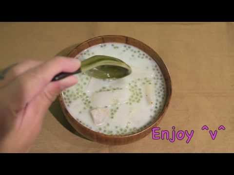 sago - Hong Kong popular dessert - Taro Sago Ingredients: 3 Taros 1 cup Uncooked Sago 100 gram Creamed Coconut 2.5 cups Water (plus 3 cups for cooking the sago) 1 c...