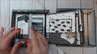 6x6 Album in a box with Doodlebug Design's Hat's Off collection Cutting Guide Chipboard 1- 7.5x7.5 (hat top) 2 - 6x6 (bottom ...