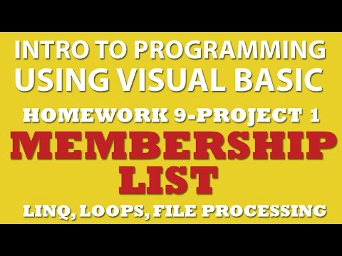 VB.net Programming Challenge 9-pp1: Membership List (File processing, loops, LINQ)