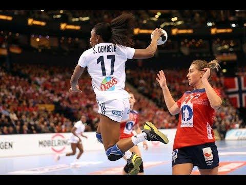 France vs Norway 23:21 Finish of the match   Frankrike vs Norge 23:21  WOMEN'S Handball 2017 Germany
