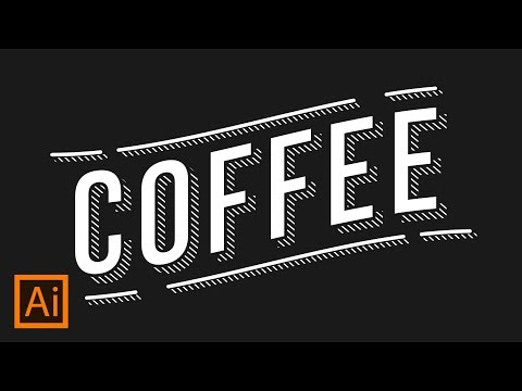 Hatched Drop Shadow Text Effect | Adobe Illustrator Tutorial