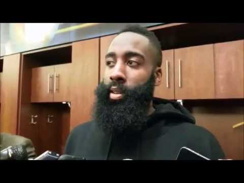 James Harden after Houston's comeback win over Brooklyn