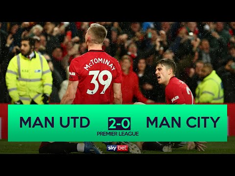 Manchester United 2-0 Manchester City   United complete Manchester derby double