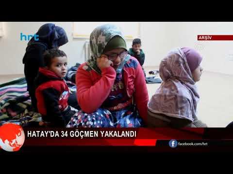 Hatay'da 34 Göçmen Yakalandı
