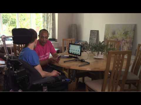 Unable to speak as a result of cerebral palsy, Dave Young is campaigning to make sure people with disabilities aren't denied the right to communicate.