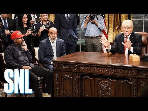 SNL Spoofs Kanye West s Meeting With Donald