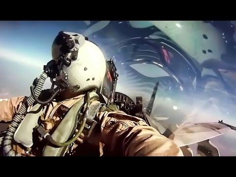 USMC F/A-18 Fighter Jets + Inflight Pilot Cockpit Camera (видео)