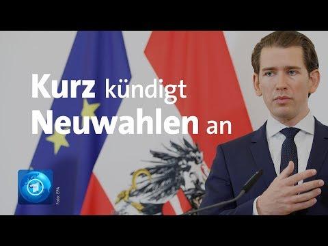 LIVE: Nach Strache-Rücktritt: Statement von Österreichs Kanzler Kurz