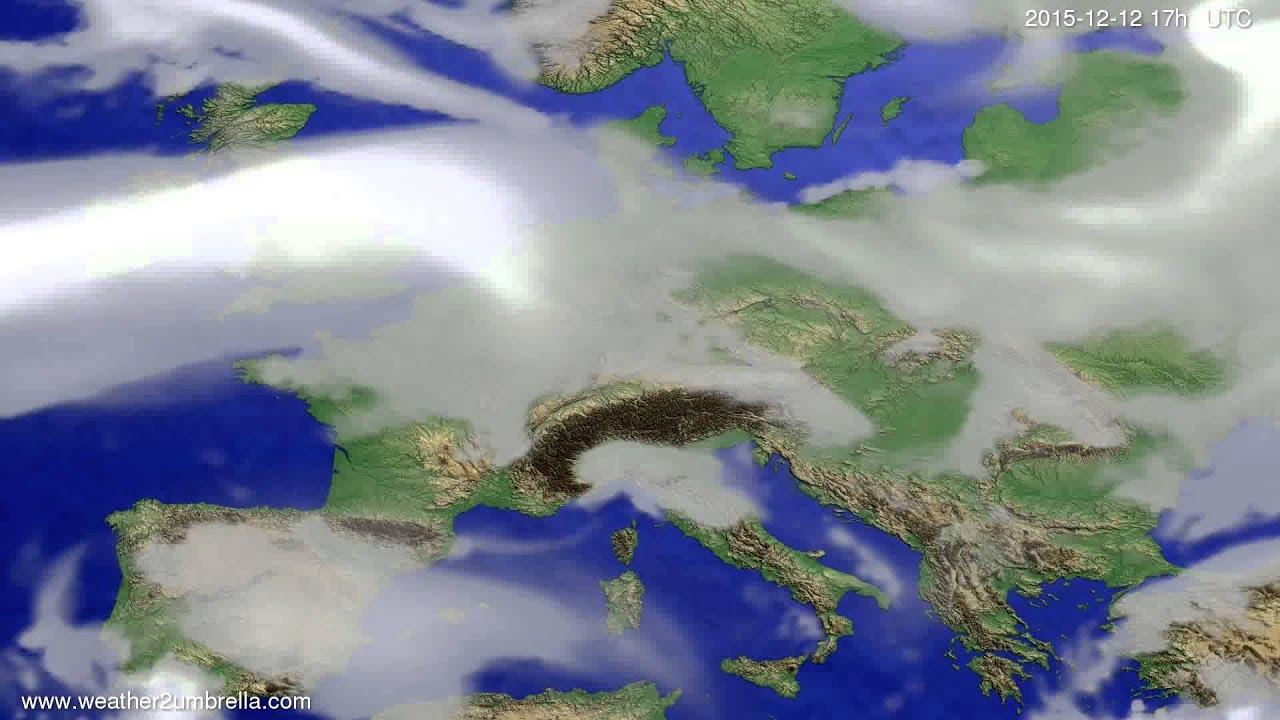Cloud forecast Europe 2015-12-10
