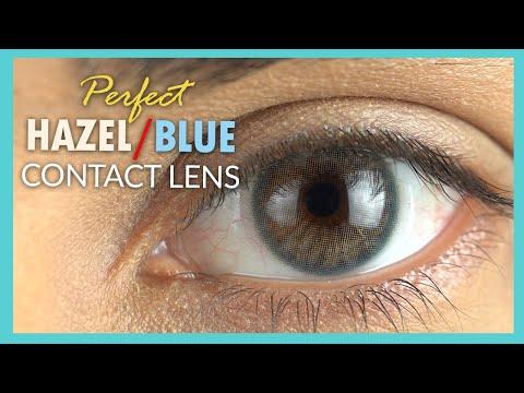 The Most Natural Blue & Hazel Contact Lenses   Addict Lolite