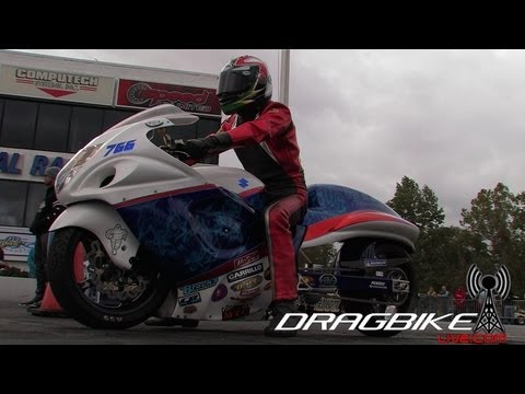 GSXR1300 Hayabusa  runs 6.90et @203mph on NOS in 1/4 mile! Quickest in World!