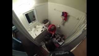 Time Lapse Cleaning Very Messy Bathroom