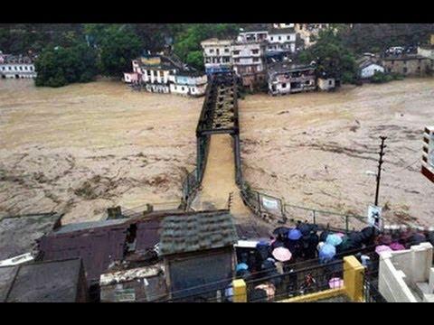 The flood: disaster in haridwar utarakhand | kedarnath flood 2013 videos: Prernamurti bharti shriji