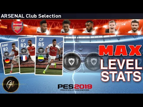 Arsenal Club Selection Max Stats Of Every Player Pes 2019 Mobile