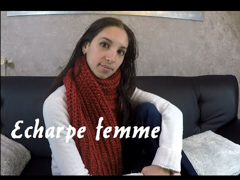 Une écharpe aussi belle que douce [ Bergère de France ] / knitting scarf