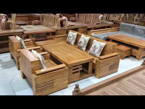 Sofa mẫu đối trưng gỗ Gõ Đỏ cao cấp