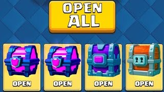 ALL MY CHESTS! ''CHEST OPENING'':: Clash Royale :: OPENING A MAGICAL CHEST, EPIC CHEST AND MORE!