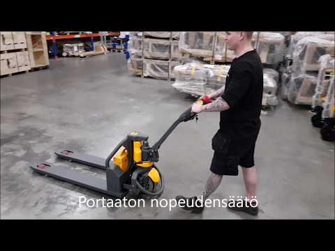 Haklift sähköinen pumppukärry / electric pallet truck 1200 kg