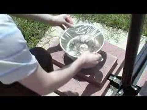 distillatore solare fatto in casa per potabilizzare l'acqua