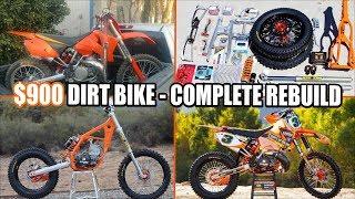 Video $900 dirt bike KTM 250SX complete rebuild - time lapse MP3, 3GP, MP4, WEBM, AVI, FLV Januari 2019