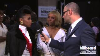 Janelle Monae & Erykah Badu Backstage at the Billboard Music Awards 2013