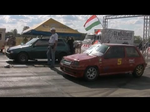 fiat uno turbo vs. renault 5 turbo: drag race