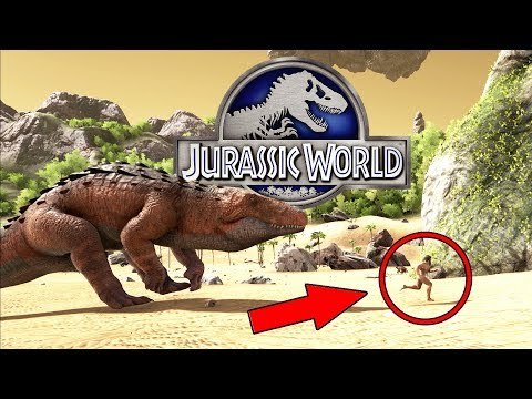 LOS ULTIMOS COCODRILOS ANTIGUOS GIGANTES! JURASSIC WORLD 2 ARK PARK (видео)