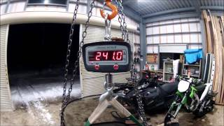 1. Snowmobile weigh-in: Polaris, Arctic Cat, Yamaha, Timbersled, Ski Doo