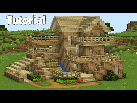 Minecraft: How to Build a Wooden House   Easy Survival House Tutorial