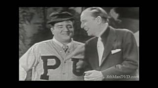 """""""Who's on First?"""" is Abbott and Costello's preeminent comedy routine. A & C usually referred to it as """"Baseball."""" The sketch was allegedly based on prior burlesque routines with similar wordplay. Synopsis:  Abbott is managing a new baseball team and the players have nicknames - which invokes the proliferation of nicknames in baseball. The infielders' nicknames are Who (first base), What (second base) and I Don't Know (third base). The key to the routine is Costello's persistent confusion over pronouns and Abbott playing the role of the 'straight man'.8thManDVD.com ® and all content © 2017 ComedyMX LLC. All rights reserved."""