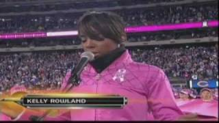 Kelly Rowland performs the National Anthem (10-03-10)