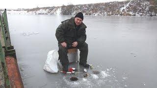 Зимняя рыбалка по первому льду- Video
