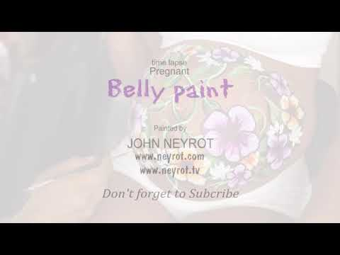 Pregnant Belly Body Paint