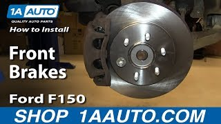 How To Install Replace Front Brakes 2004-08 Ford F150