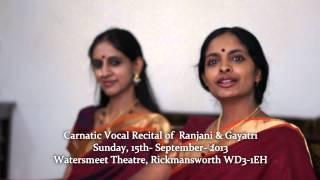 Download Lagu Ranjani & Gayatri on September 15th, 2013 at Watersmeet Theatre, High str, Rickmansworth WD3 - 1EH Mp3