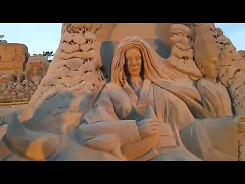 Elaborate Sand Statue Masterpiece - Graceful Japanese noble people in Heian Era- (4 May 2015) (VIDEO)