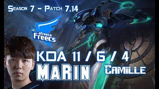 AFs MaRin CAMILLE vs GNAR Top Lane - Patch 7.14 KR Ranked ↓↓↓ Runes & Masteries ↓↓↓ GAME TYPE: Ranked Solo...