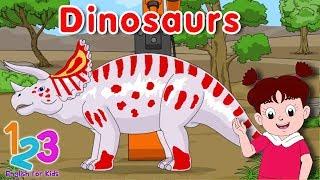 Belajar Bahasa Inggris Mengenal Nama Dinosaurus Diva 1 | 123 English For Kids | Kartun Anak Channel