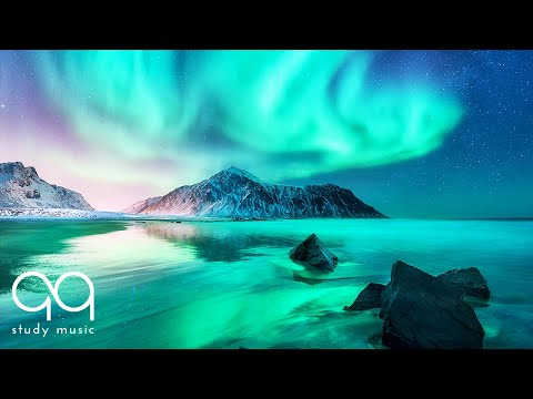 Relaxing Ambient Music 🔵 Aurora Borealis & Northern Lights Music for Deep Focus & Study