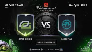 OpTic Gaming vs Immortals, The International NA QL, game 1 [CrystalMay, Alohadance]