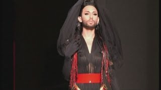 Eurovision winner Conchita Wurst models for Gaultier | Channel 4 News