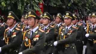 Những tiếng hát rộn vang của đoàn diễu binh trên phố phường Hà Nội