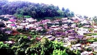 Flying above Thai coffee village