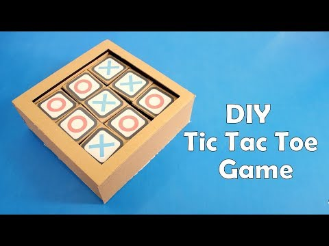 How to Make a Cardboard Tic Tac Toe Game at Home - DIY (видео)