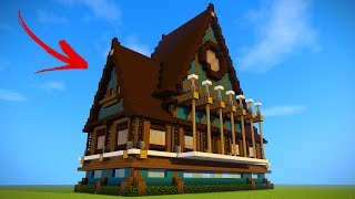 Minecraft: How To Build A Large Survival House! Easy Tutorial ( 2017 )