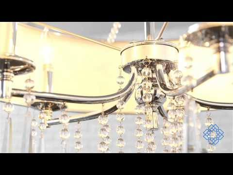 Video for Echelon Chrome Five-Light Chandelier with Tuxedo Shade