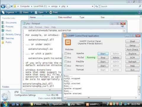 Install OpenCart 1.3.2 on XAMPP 1.7.2 for Windows tutorial
