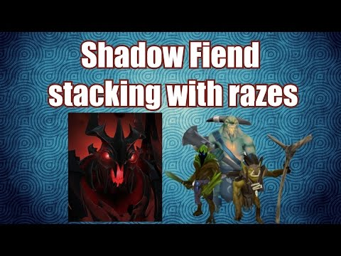 Shadow Fiend - How To Accelerate Farm | Double Stacking Jungle With Razes