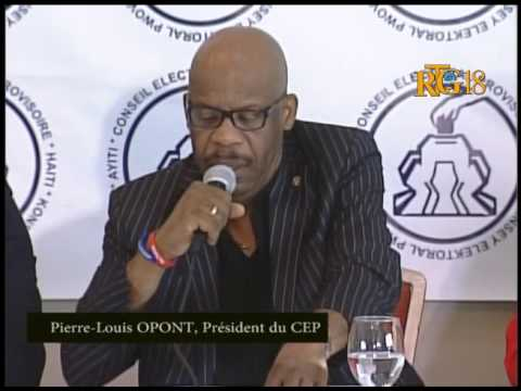 The intervention of the President of the CEP, Pierre-Louis OPONT.